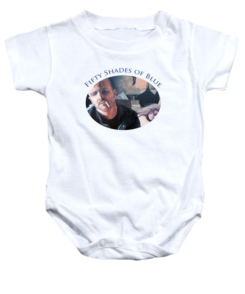 Fifty Shades Of Blue Baby Onesie by Tom Roderick