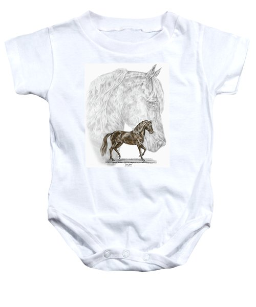 Fine Steps - Paso Fino Horse Print Color Tinted Baby Onesie