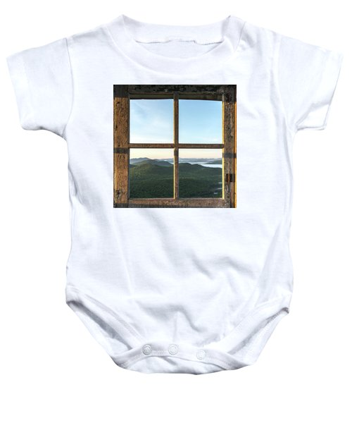 Fire Tower Frame Baby Onesie