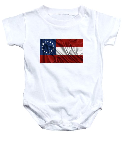 First Flag Of The Confederate States Of America - Stars And Bars 1861-1863 Baby Onesie