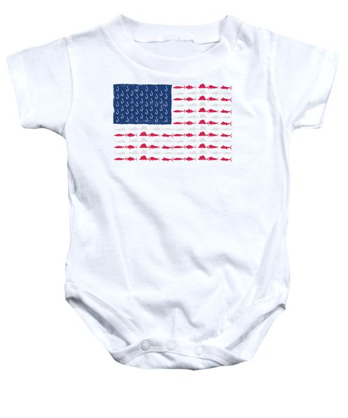 Fish Offshore Usa Baby Onesie