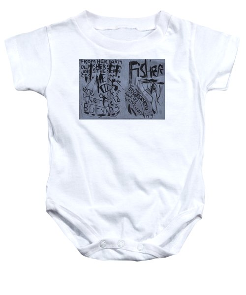 Fisher Covers Unmasked Baby Onesie