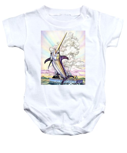 Fishing Swordfish Baby Onesie