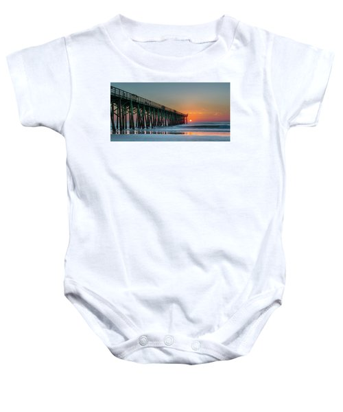 Flagler Pier Sunrise Baby Onesie