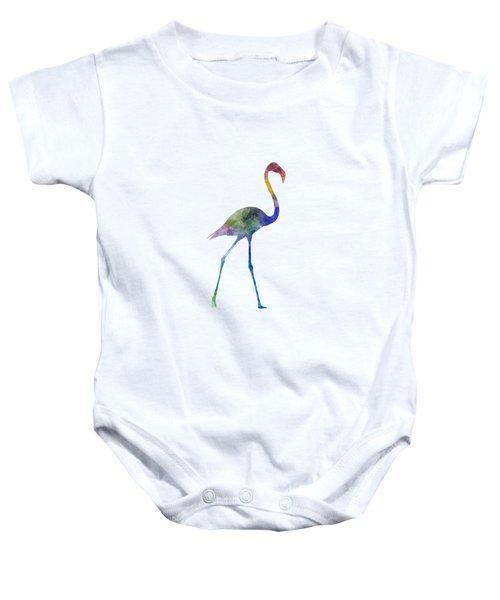 Flamingo 01 In Watercolor Baby Onesie