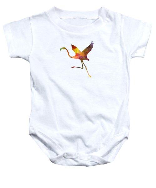 Flamingo 02 In Watercolor Baby Onesie