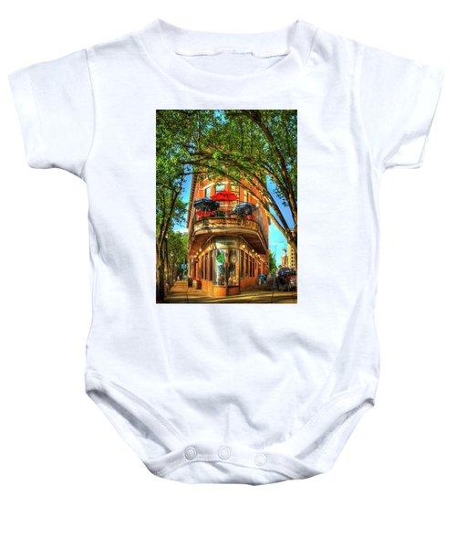 Flatiron Style Pickle Barrel Building Chattanooga Tennessee Baby Onesie