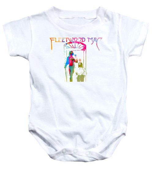 Fleetwood Mac Album Cover Watercolor Baby Onesie