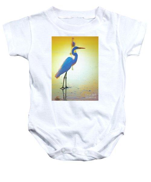 Florida Atlantic Beach Ocean Birds  Baby Onesie