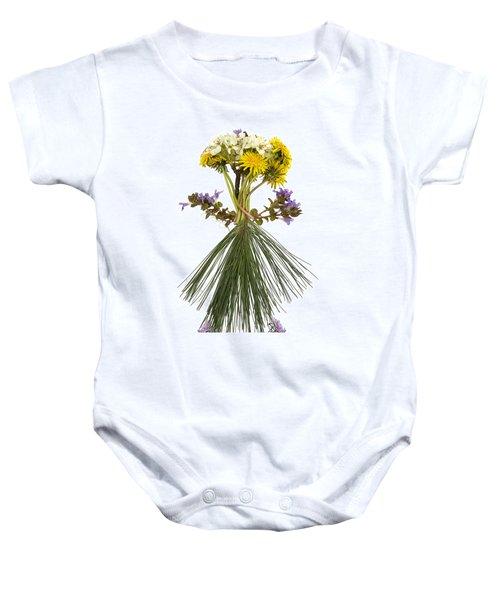 Flower Head Baby Onesie