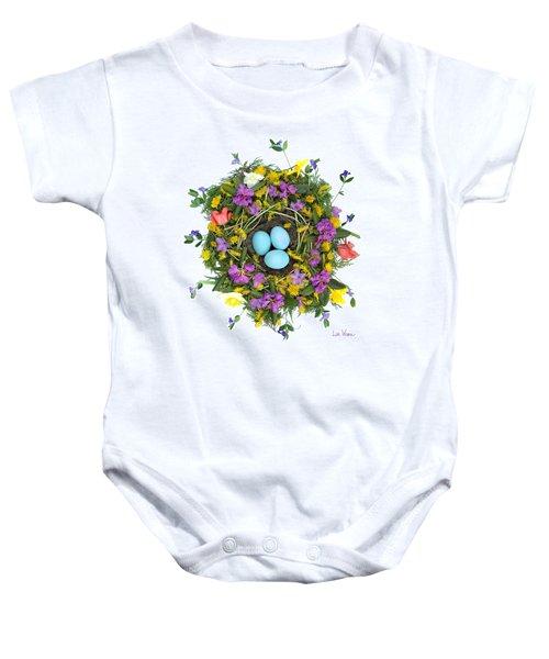 Flower Nest Baby Onesie