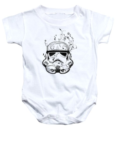 Flower Trooper Baby Onesie
