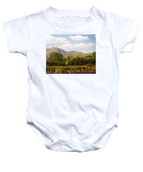 Flowers And Two Trees Baby Onesie