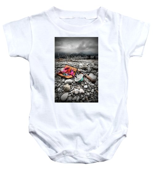 Fly Rod And Streamers Portrait Baby Onesie