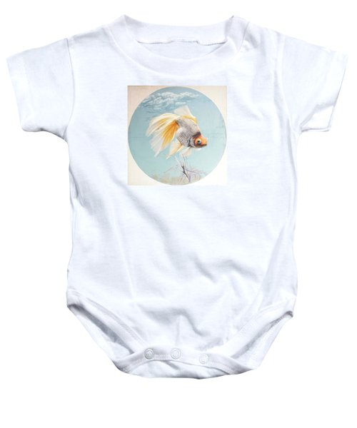 Flying In The Clouds Of Goldfish Baby Onesie by Chen Baoyi