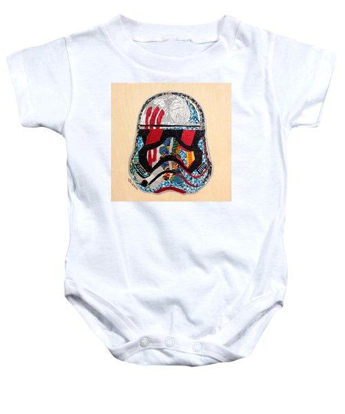 Storm Trooper Fn-2187 Helmet Star Wars Awakens Afrofuturist Collection Baby Onesie