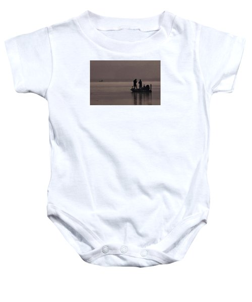 Foggy Fishing Baby Onesie