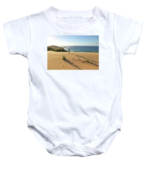 Footprints In The Sand Dunes Baby Onesie