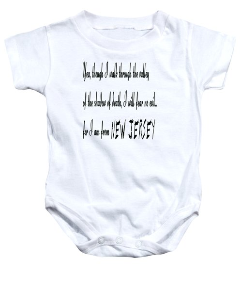 For I Am From New Jersey Baby Onesie