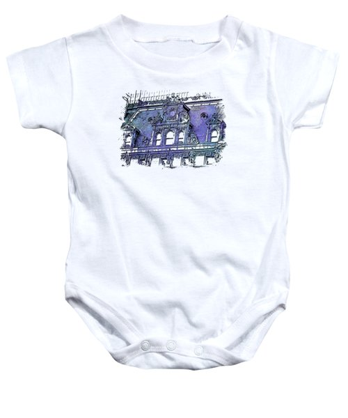 Forefathers Berry Blues 3 Dimensional Baby Onesie