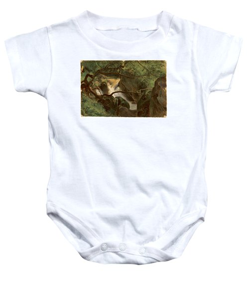 Forest Interior With A Waterfall Papigno Baby Onesie