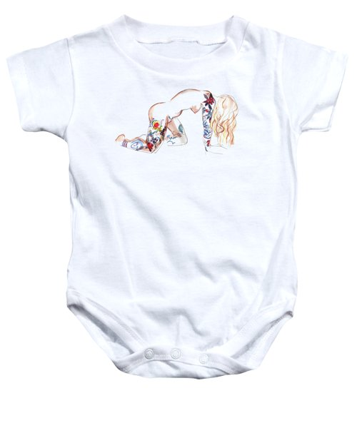 Forever Amber - Tattoed Nude Baby Onesie by Carolyn Weltman