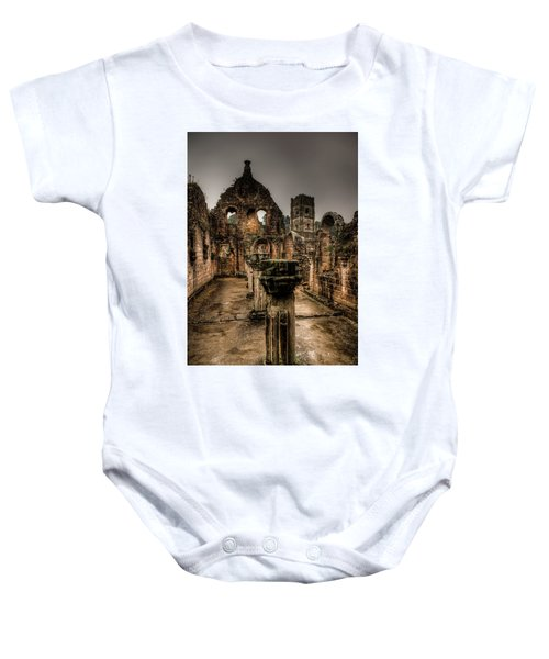 Fountains Abbey In Pouring Rain Baby Onesie