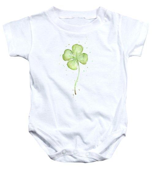 Four Leaf Clover Lucky Charm Baby Onesie
