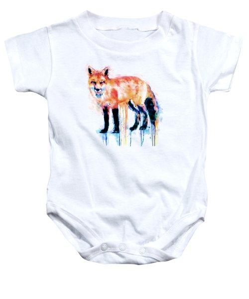 Fox  Baby Onesie by Marian Voicu