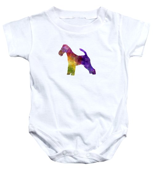 Fox Terrier In Watercolor Baby Onesie by Pablo Romero