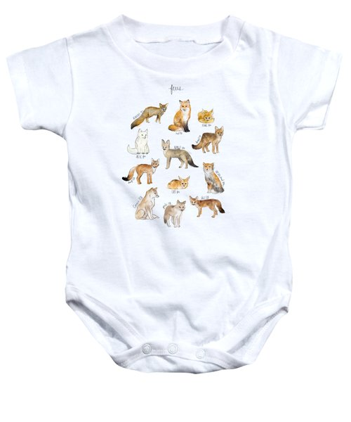 Foxes Baby Onesie by Amy Hamilton
