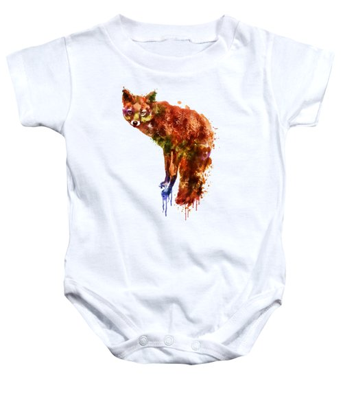 Foxy Lady Watercolor Baby Onesie