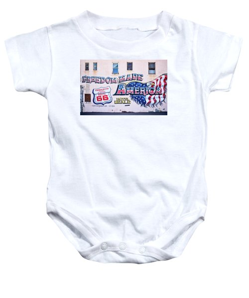 Freedom Made America - Mural Art On Route 66 Baby Onesie