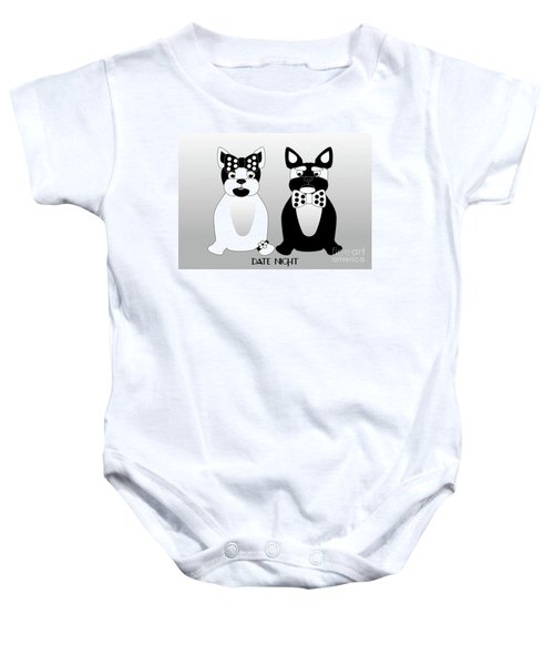 French Bulldog Date Night  Baby Onesie