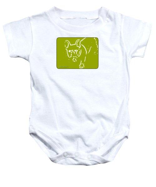 Frenchielove Design Chartreuse Baby Onesie