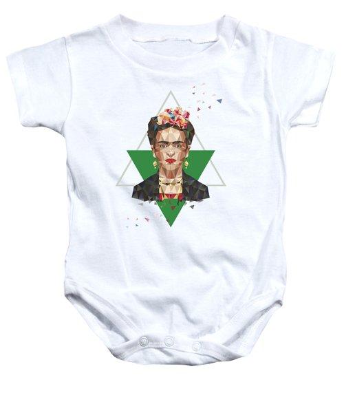 Frida In Triangles Baby Onesie