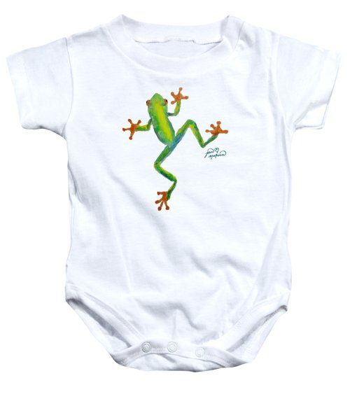 Red Eyed Tree Frog By Jan Marvin Baby Onesie