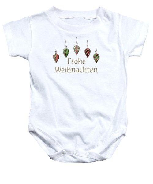 Frohe Weihnachten German Merry Christmas Baby Onesie