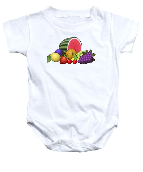 Fruits Heap Baby Onesie by Miroslav Nemecek