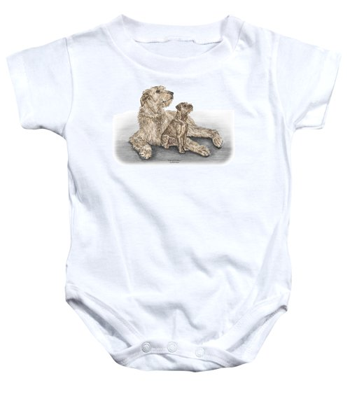 Full Of Promise - Irish Wolfhound Dog Print Color Tinted Baby Onesie