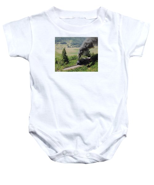 Full Steam Ahead Baby Onesie