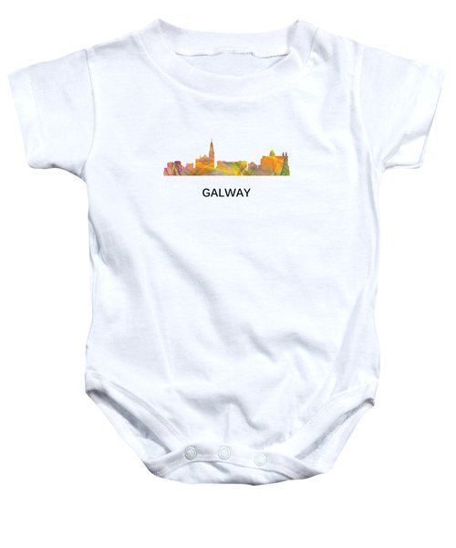 Galway Ireland Skyline Baby Onesie