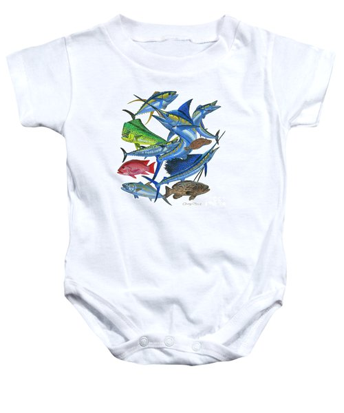 Gamefish Collage Baby Onesie