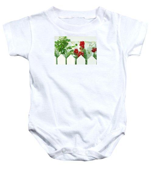 Garden Fence - Key West Baby Onesie