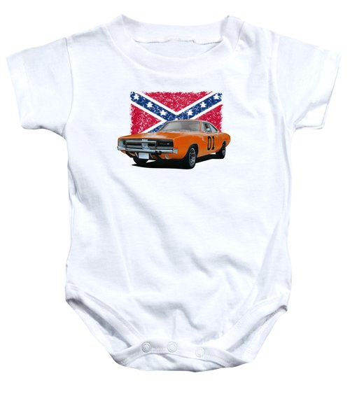 General Lee Rebel Baby Onesie