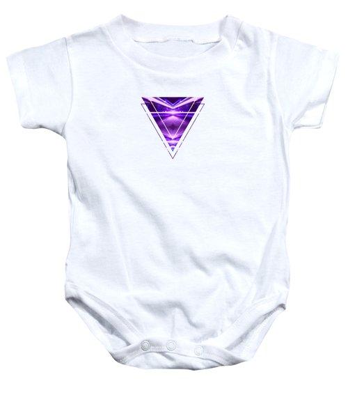 Geometric Street Night Light Pink Purple Neon Edition  Baby Onesie