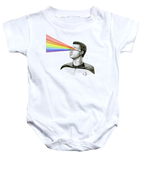 Geordi Sees The Rainbow Baby Onesie