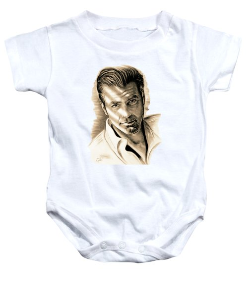 George Clooney Baby Onesie by Gitta Glaeser