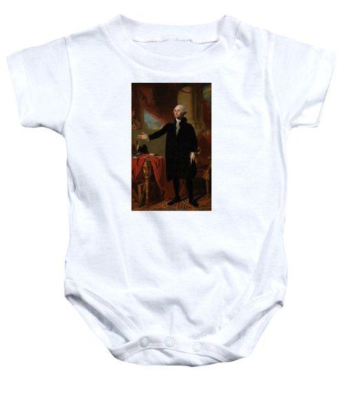 George Washington Lansdowne Portrait Baby Onesie by War Is Hell Store