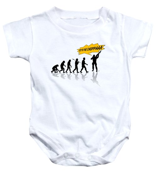 Get To The Choppa Baby Onesie by Filippo B